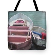 Boats Of The Lighthouse Tote Bag