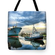Boats On A Canal Tote Bag
