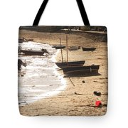 Boats On Beach 02 Tote Bag by Pixel  Chimp