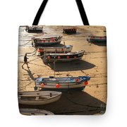 Boats On Beach Tote Bag