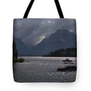 Boats On Jackson Lake - Grand Tetons Tote Bag