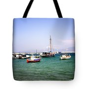 Boats On The Aegean Sea 1 - Mykonos - Greece Tote Bag