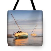 Accidentally - Boats On The Beach Tote Bag