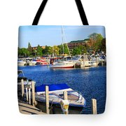 Boats On The Dock Traverse City Tote Bag