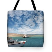 Boats On The Red Sea Coast Tote Bag
