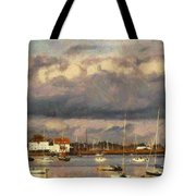Boats On The River Tote Bag