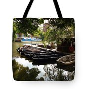 Boats On The Thames River Oxford England Tote Bag