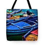 Boats Snuggling - Sicily Tote Bag