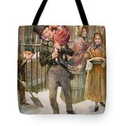 Bob Cratchit And Tiny Tim Tote Bag