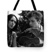 Bob Dylan And Joan Baez Tote Bag
