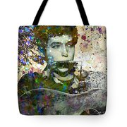 Bob Dylan Original Painting Print Tote Bag
