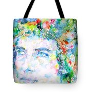 Bob Dylan Watercolor Portrait.3 Tote Bag