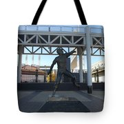 Bob Feller Bronze Statue Tote Bag