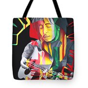 Bob Marley And Rasta Lion Tote Bag