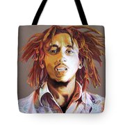 Bob Marley Earth Tones Tote Bag