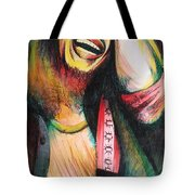 Bob Marley In Agony Tote Bag