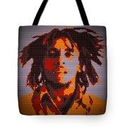 Bob Marley Lego Pop Art Digital Painting Tote Bag