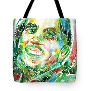 Bob Marley Watercolor Portrait.2 Tote Bag