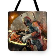 Boba Fett - Star Wars The Card Game Tote Bag by Ryan Barger