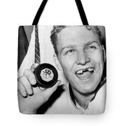 Bobby Hull Scores 50th Goal Tote Bag by Underwood Archives