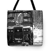 Bobcat Atv In Winter Tote Bag
