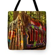 Box Car Along The Cheakamus River Tote Bag