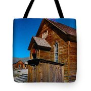 Bodie Ghost Town Church Tote Bag