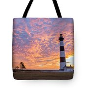 Bodie Island Lighthouse At Sunrise Vetical Tote Bag