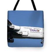 Boeing 747-400 Of Thai International Tote Bag