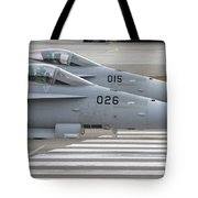 Boeing Fa-18 Hornets Of The Swiss Air Tote Bag