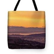 Boeing Seatac And Rainier Sunrise Tote Bag
