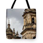 Bogota Cathedral Towers Tote Bag