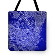 Bogota Street Map - Bogota Colombia Road Map Art On Colored Back Tote Bag