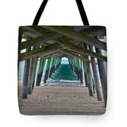 Bogue Banks Fishing Pier Tote Bag