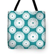 Boho Floral Blue And White Tote Bag