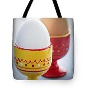 Boiled Eggs In Cups Tote Bag by Elena Elisseeva