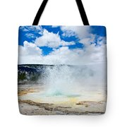 Boiling Point - Geyser Eruption In Yellowstone National Park Tote Bag