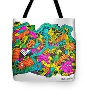 Boing Tote Bag by Chelsea Geldean