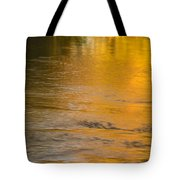 Boise River Autumn Abstract Tote Bag