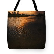Boise River Dramatic Sunset Tote Bag