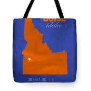 Boise State University Broncos Boise Idaho College Town State Map Poster Series No 019 Tote Bag