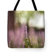 Bokeh With Purple Wildflower Tote Bag