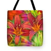 Bold And Beautiful Daylilies Tote Bag