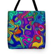 Bold Blue Abstract Decor Tote Bag