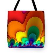 Bold Colors Fractal Tote Bag