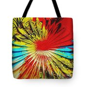 Bold Floral Hat Abstract Tote Bag