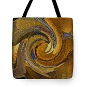 Bold Golden Abstract Tote Bag