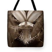 Bold Iris Sepia Tote Bag