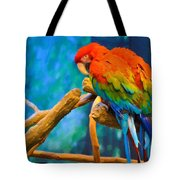 Bold Parrot Tote Bag