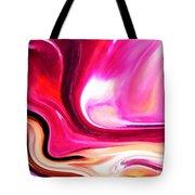 Bold Pink Abstract Tote Bag